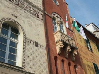 L'ex sede del Comune a Varazze