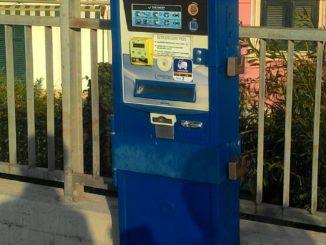 Colonnina di pagamento parcheggi a Varazze
