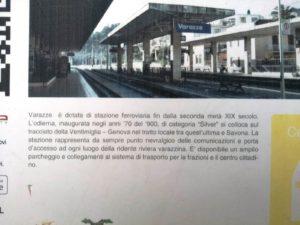 Stazione ferroviaria di Varazze cartello informativo