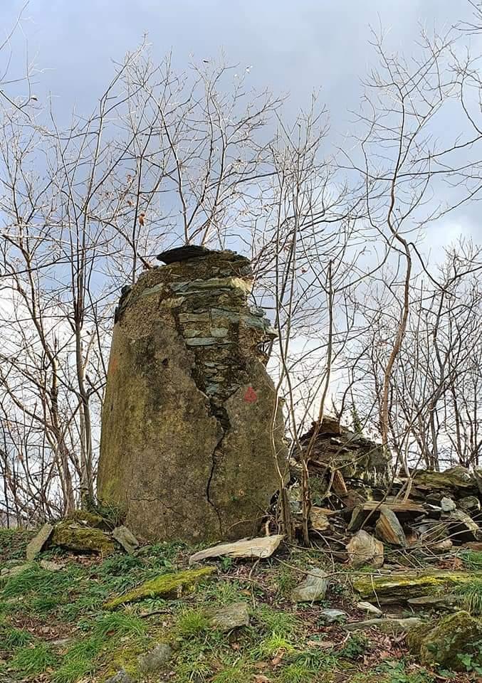 Nicciu du Briccu du Bruxin, il crollo avvenuto alcuni giorni fa