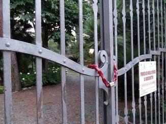 Boschetto di Varazze chiuso